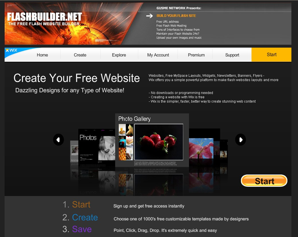 20 useful resources to make your own flash website for free Start my own website