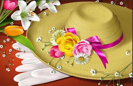 Flowers and hats