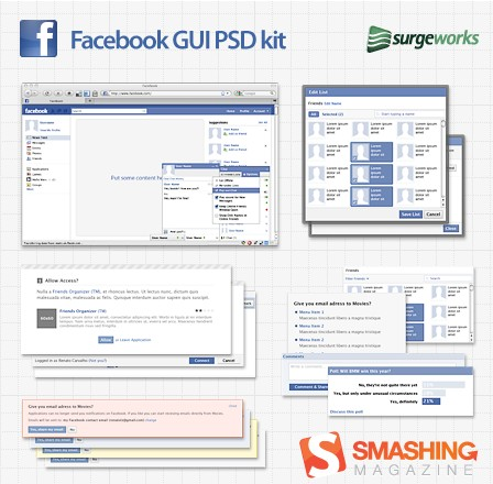 Facebook GUI PSD Kit
