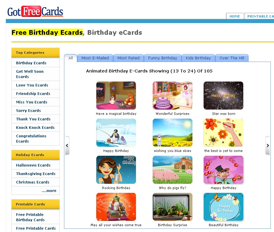 a big deal of free greeting ecards