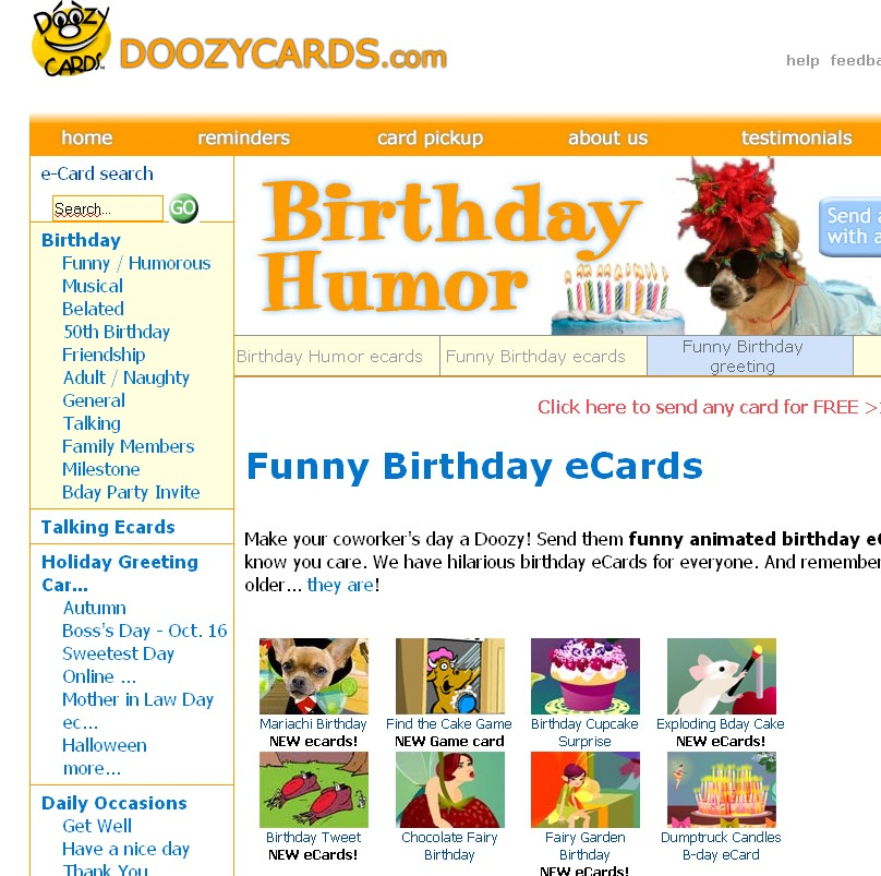 Almost 2000 original ecards