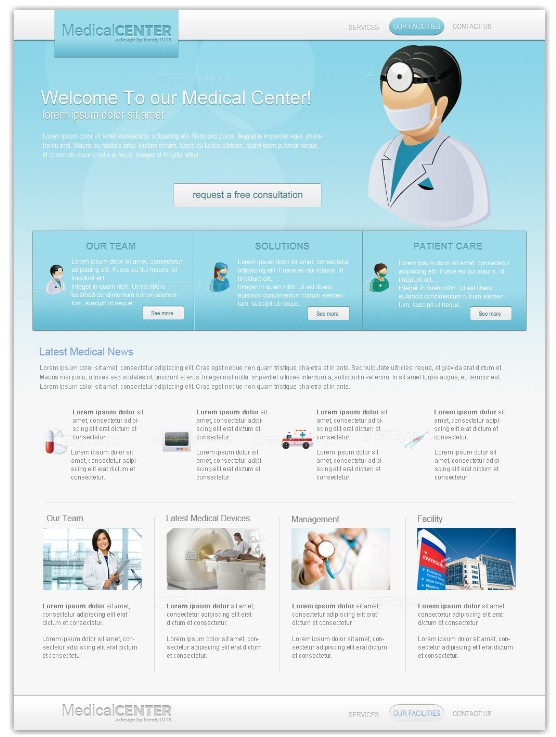 Professional medical template