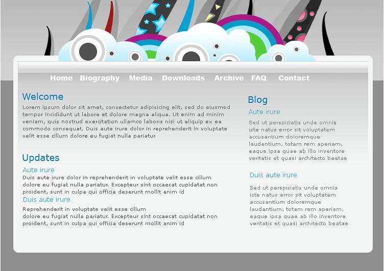 Funky web layout