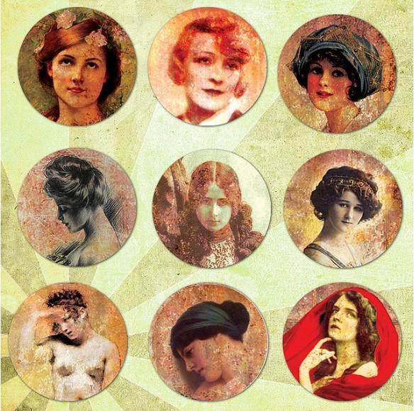 Vintage Ladies in Sepia