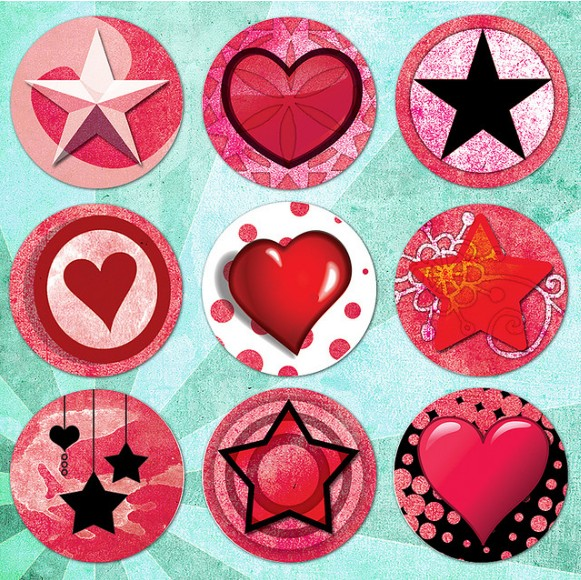 Pink Punk Hearts and Stars