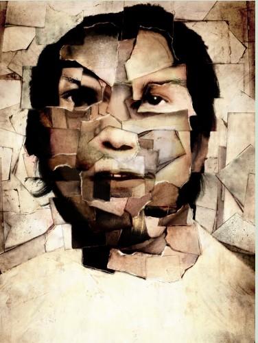 Man collage