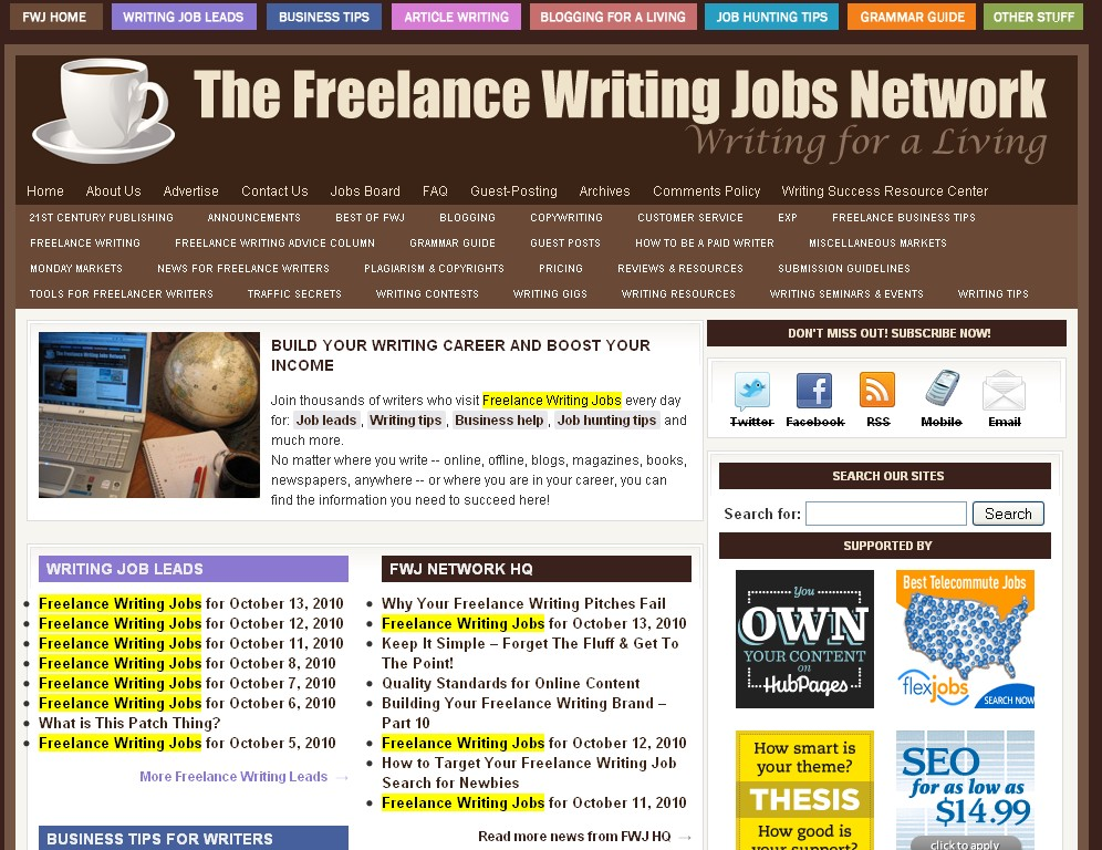Freelance Blogging Jobs For Freelance Writers | Party Invitations ...