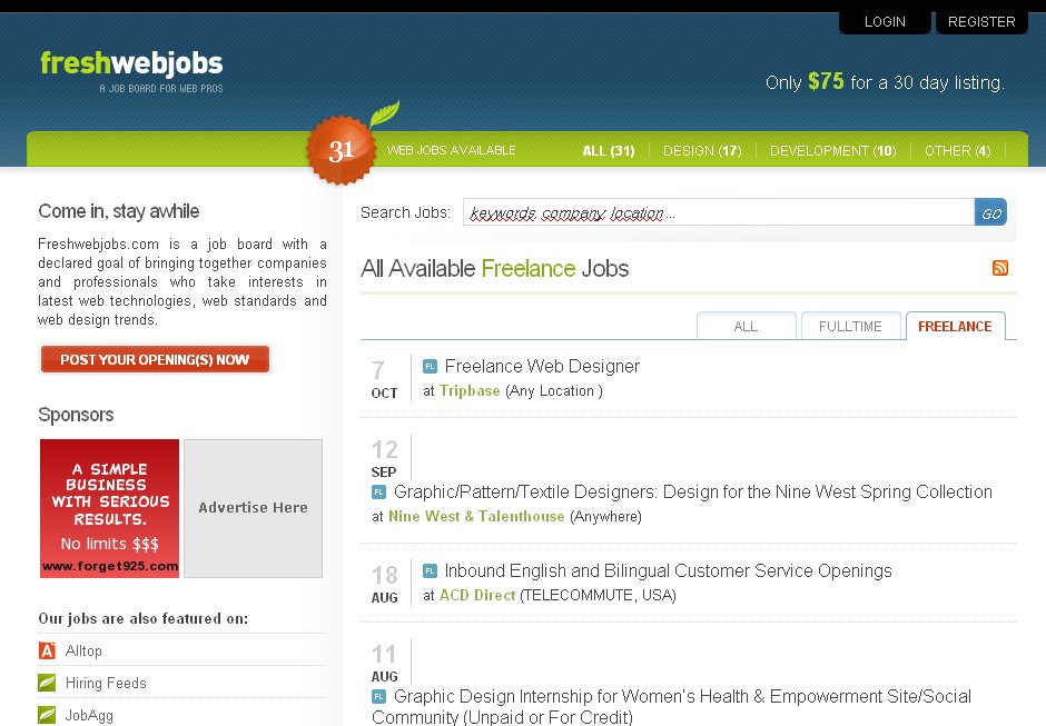 Freshwebjobs.com