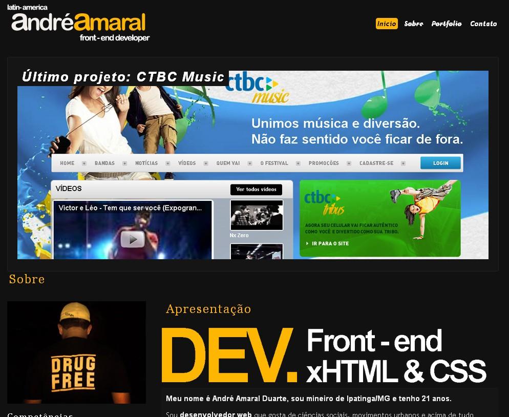 Portfolio of web designer André Amaral from  Brazil