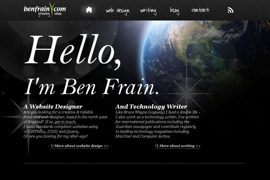 Portfolio of  technology writer Ben Frain