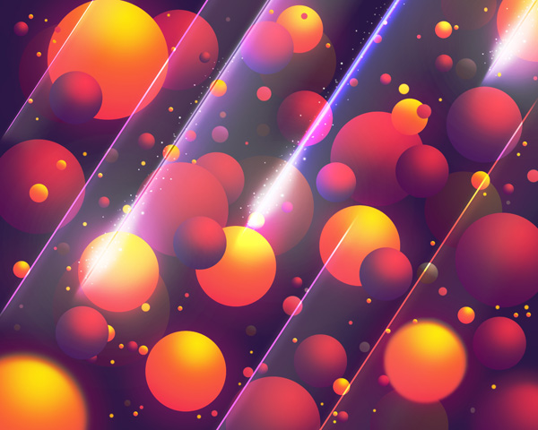 Create Abstract Colorful Balls illustration