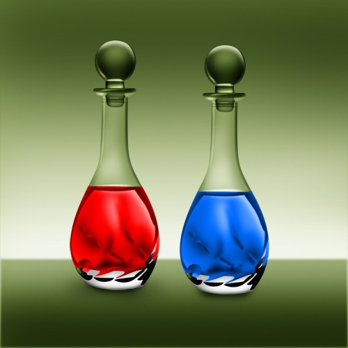 Photoshop  Stock Photo Perfume Bottle