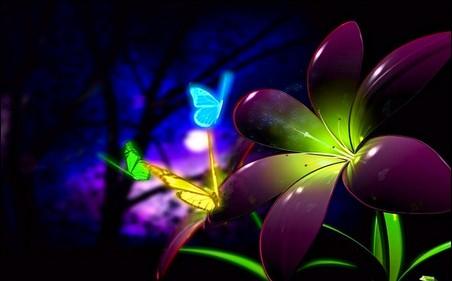 Fluorescentes Flores 3D