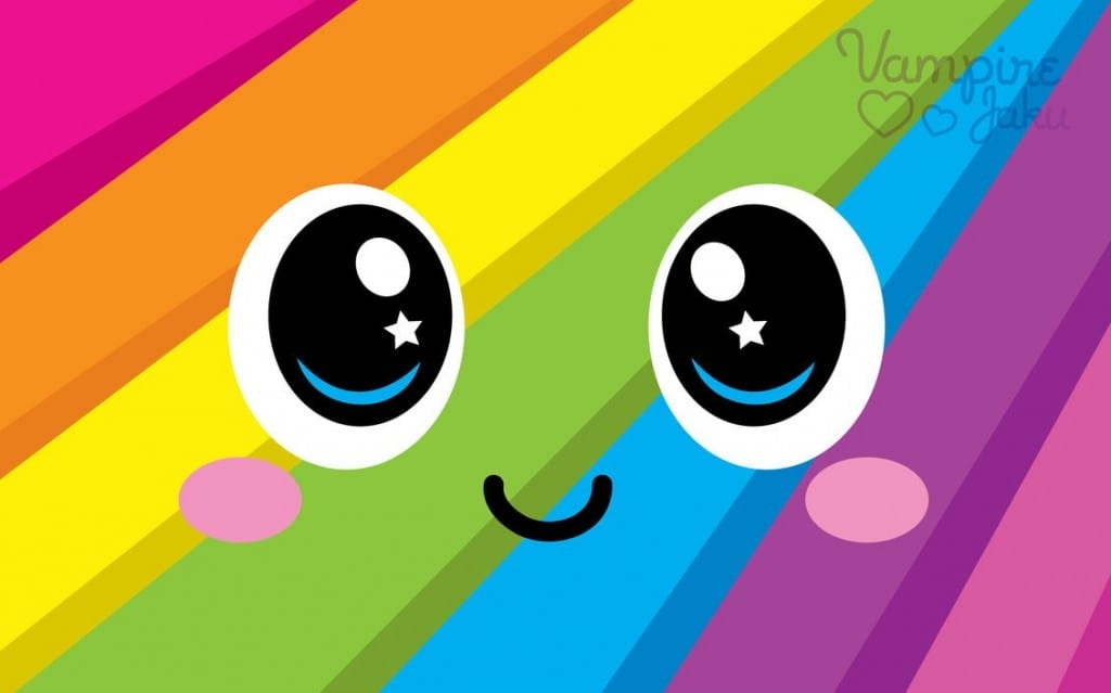 Rainbowface Luvs U Wallpaper by VampireJaku