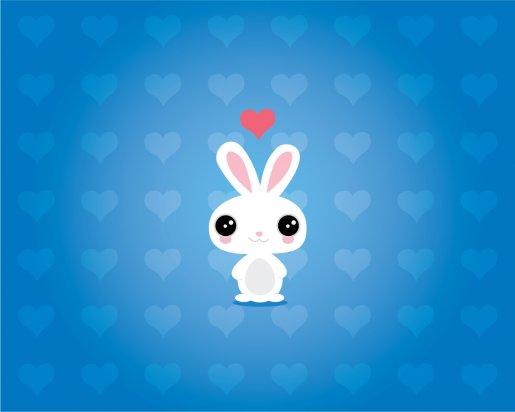 Bunny in love