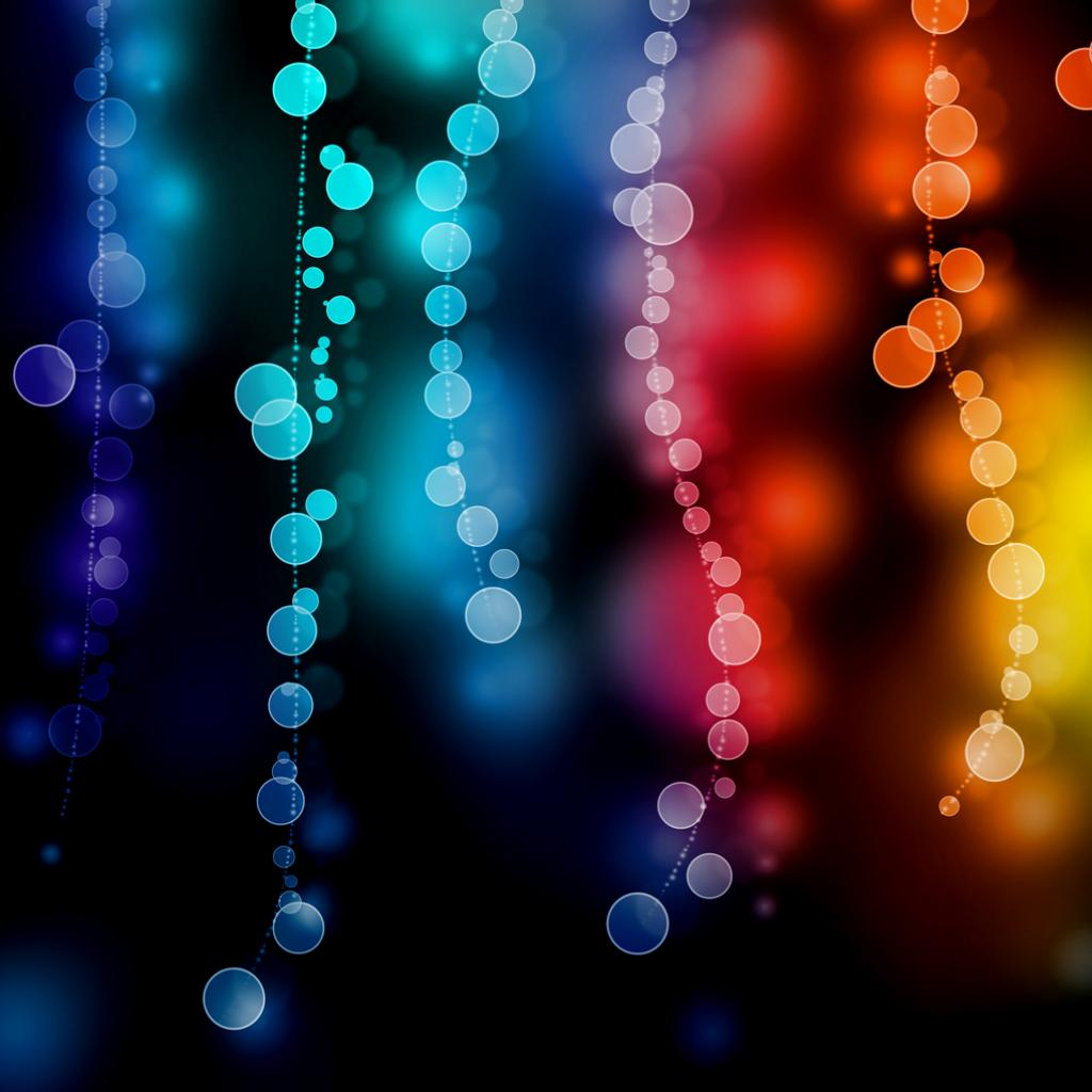 String Lights Bokeh : 40+ FREE Colorful Wallpapers for iPad