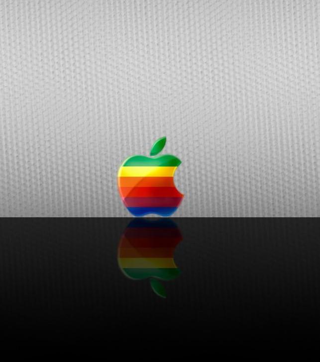 Rainbow color apple