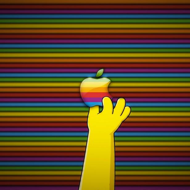 Simpsons Apple Logo