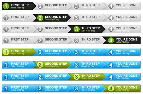 4 step process panel