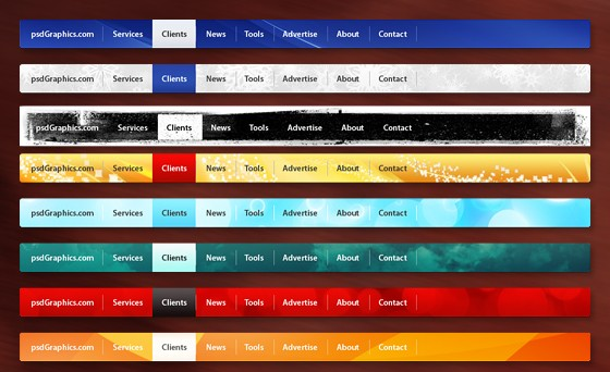 Colorful web navigation