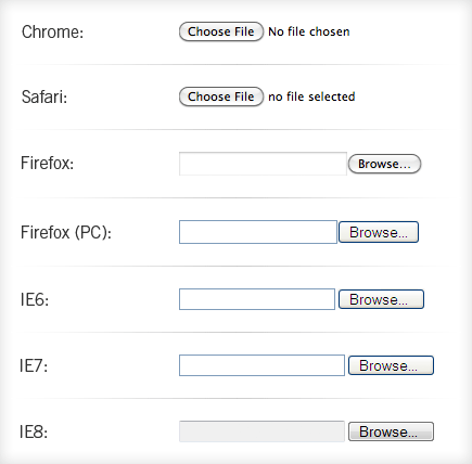 Custom File Inputs with a Bit of jQuery