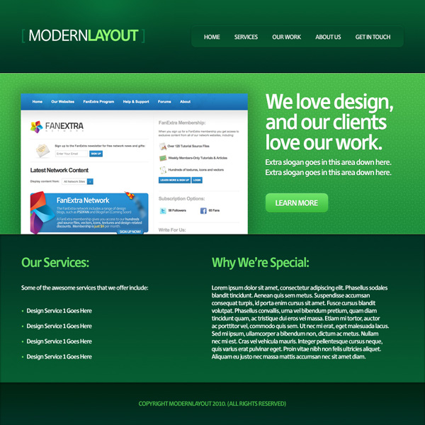 Design a Quick and Clean Portfolio Website