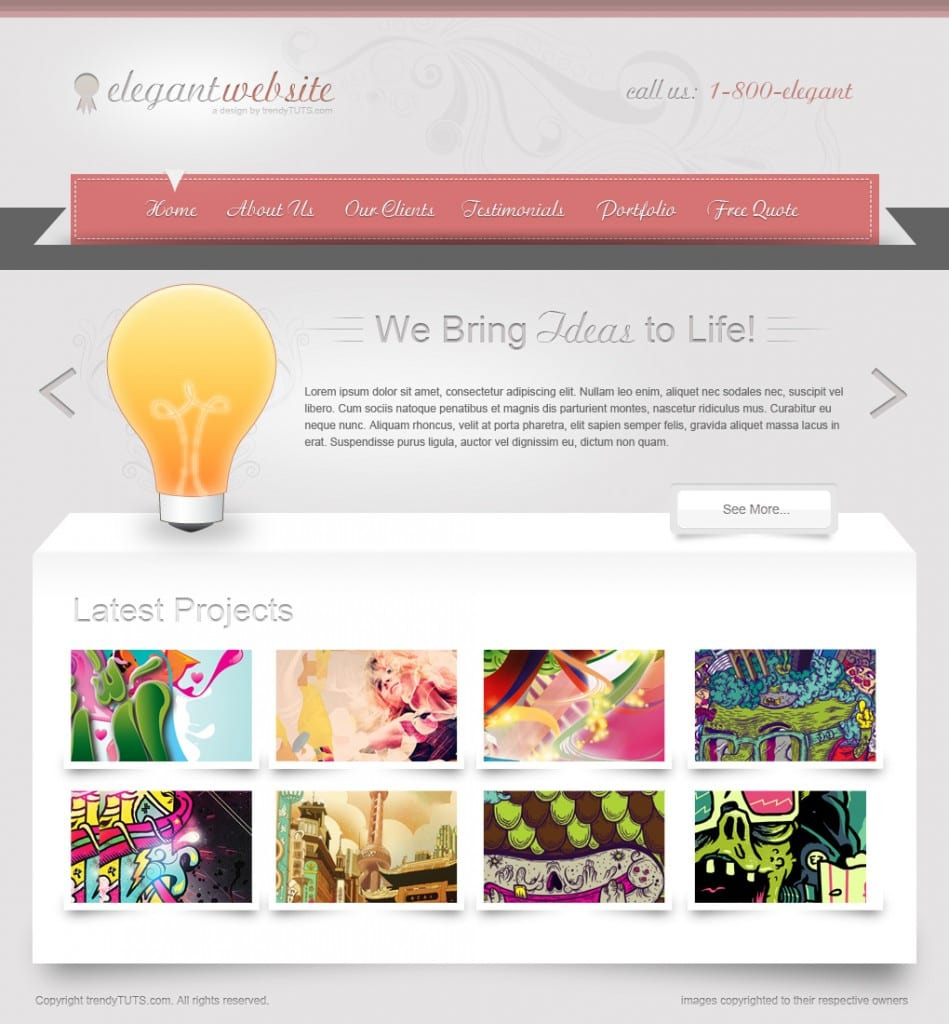 How to design an elegant website in Photoshop