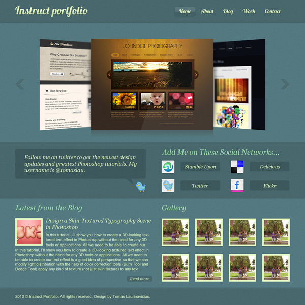 Create an Elegant Portfolio Web Design in Photoshop