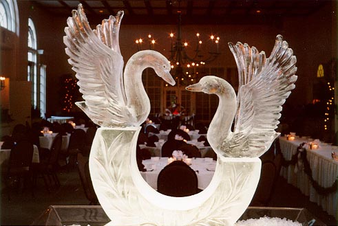 Two Swans Pedestal