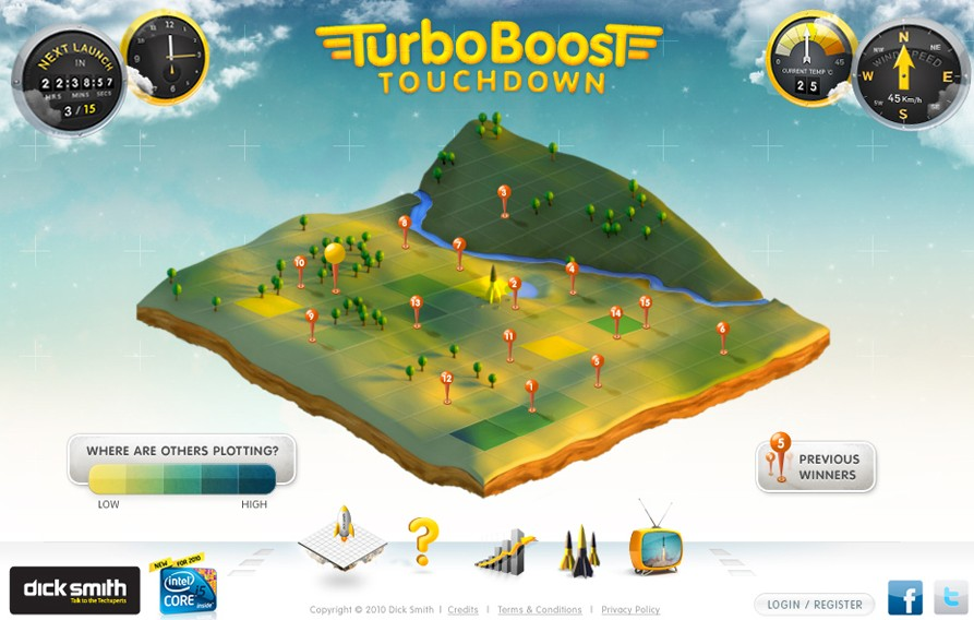 TurboBoost TouchDown Game