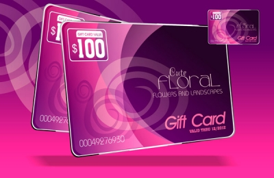 Floral gift card