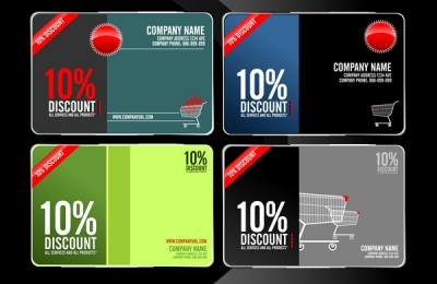 Free Vector Discount Cards - Member Card