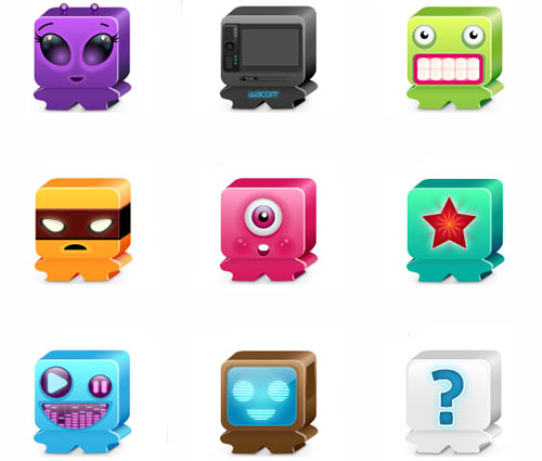 Favorite Monsters Icon Set