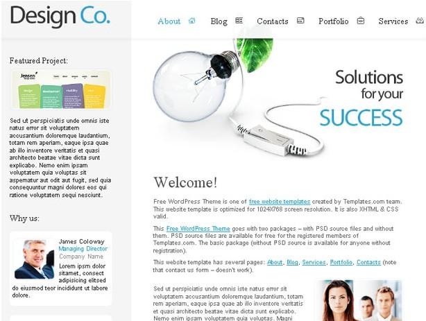 Theme for Design Company