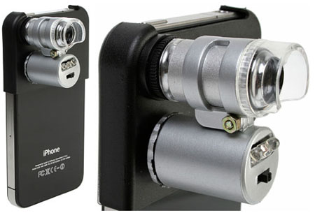 iPhone 4 Microscope with 60x Magnification and LEDs