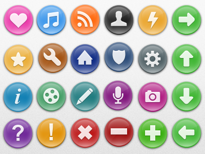 24 different simple sweeties icons