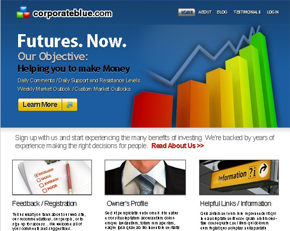 Corporate Blue Home Page