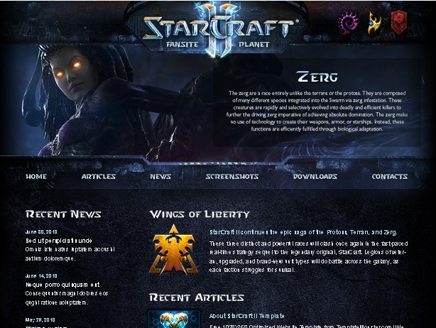 Theme for StarCraft II