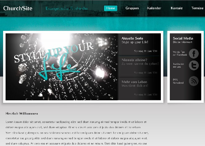 """ChurchSite"" Website Template"