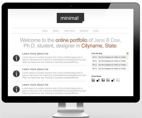Minimal Portfolio Site Design