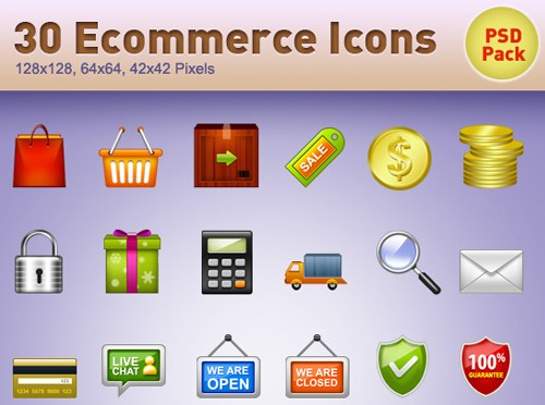 30 E-Commerce Icons