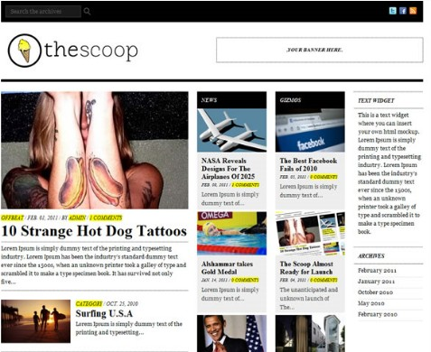 The Scoop – A Fantastic Magazine Styled Theme