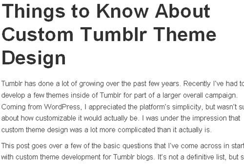 Things to Know About Custom Tumblr Theme Design