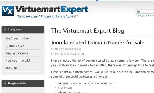 The Virtuemart Expert Blog