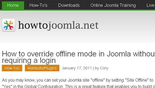 How-To Joomla