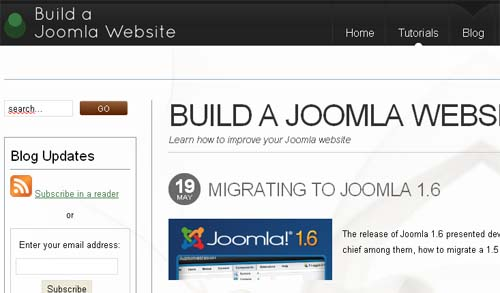 Build a Joomla website