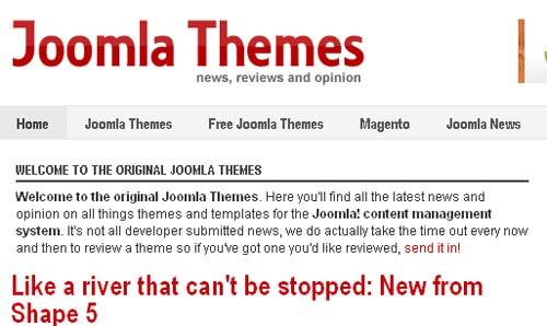 News about joomla themes.