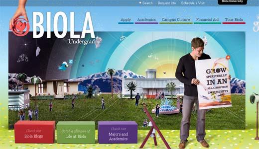 The Biola University Undergrad website