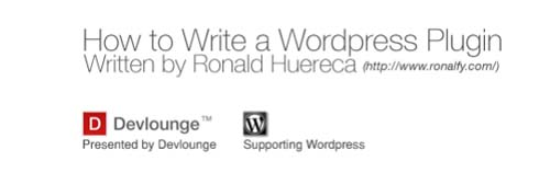 How to write a wordpress plugin
