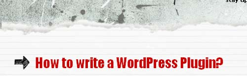 How to write a WordPress Plugin?